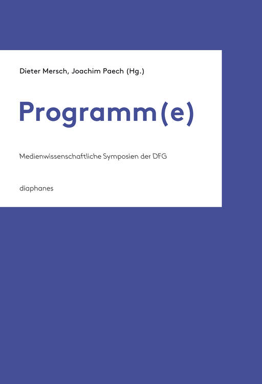 John Durham Peters: 4. Einführung: Sektion: »Programmatik - Comments on the Research Program of Media Studies«